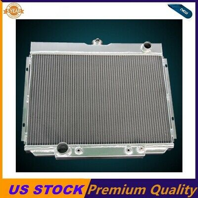 """RACING 3-ROW ALUMINUM RADIATOR+2 X 10/"""" RED FANS 68-73 CHARGER//CORONET//SATELLITE"""