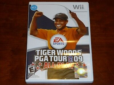 Tiger Woods PGA Tour 09 All-Play EA Sports Nintendo wii Game 2008 COMPLETE