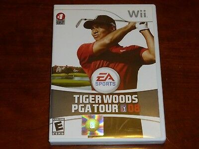Tiger Woods PGA Tour 08 EA Sports Nintendo wii Game 2007 COMPLETE