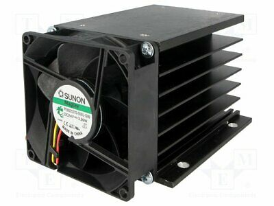 Heatsink: extruded; grilled; for thee phase solid state relays [1 pcs]