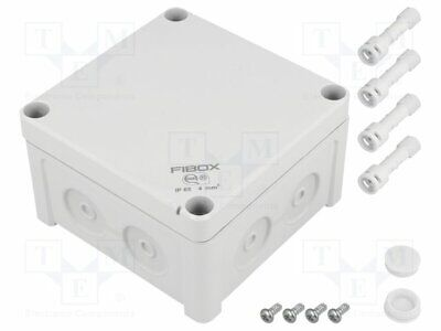 Enclosure: junction box; X: 110mm; Y: 110mm; Z: 65mm; wall mount; ABS [1 pcs]