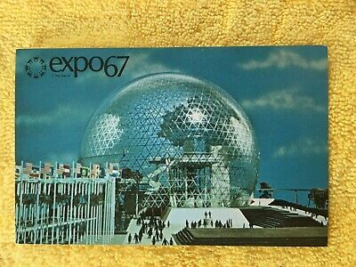 Postcard ~ expo 67~ Pavilion of The United States ~ Montreal Canada ~ UNUSED