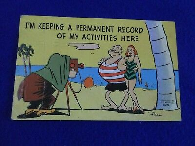 Postcard ~ Keeping a Permanent Record ~ IN ~ With a Stamp 1951