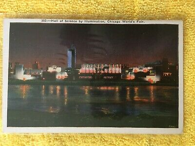Postcard ~ Hall of Science ~ Leif Erikson Drive ~ Chicago Worlds Fair ~ UNUSED
