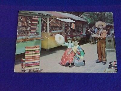 Postcard ~ Olvera Street ~ Los Angeles CA ~ Montreal Canada ~ With Stamp 1972