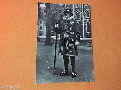 Postcard ~ Tower of London ~ Chief Yeoman Warder ~ with Stamp 1957