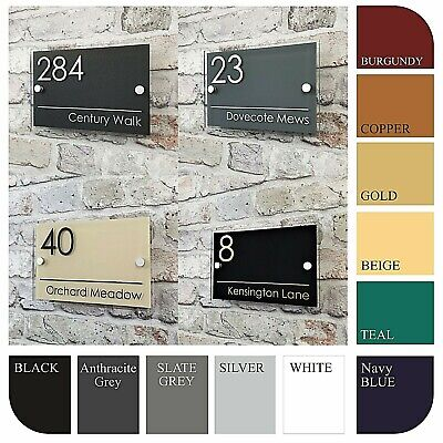 Contemporary House Sign Door Numbers & Address Plaques Personalised Name Plates