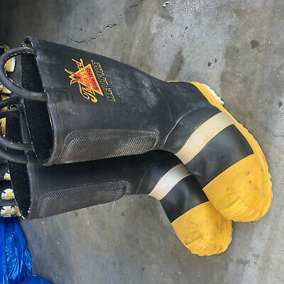 Turnout Boots Firefighter Thorogood Hellfire sz 8.5 Wide!