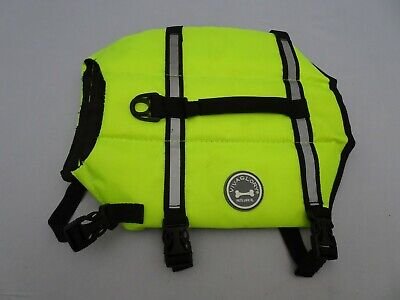 Vivaglory Dog Life Jacket Sz S Adjustable Dog Safety Reflective Vest Neon Yellow
