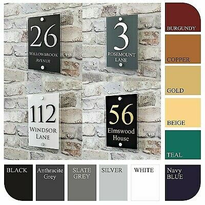 House Sign Plaques & Door Numbers Contemporary Address Name Plates