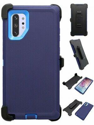 Navy For Samsung Galaxy Note 10+Plus Defender Case w/ Belt Clip fits Otterbox
