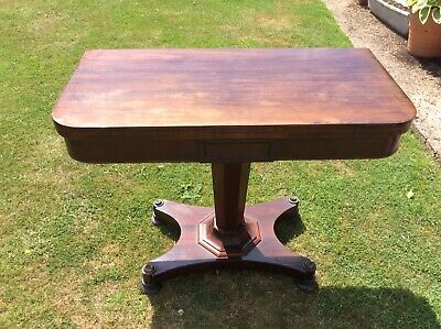 Antique Mahogany Folding Card Table