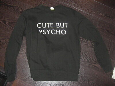 Not Cute Just PsychoSWEATER SWEATSHIRT JUMPERHipster  Chic