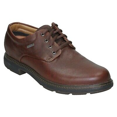 STANTENWALK GTX MENS CLARKS LEATHER WATERPROOF LACE UP CASUAL WORK SHOES