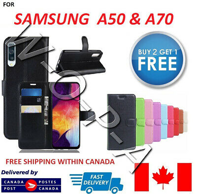 Fits Samsung Galaxy A50 & A70 New Pouch Flip Cover Wallet Leather Phone Case