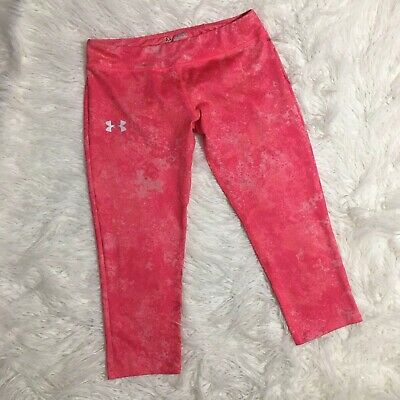 UNDER ARMOUR  YOUTH GIRLS Crop Pants LEGGINGS  SIZE XL PINK NICE
