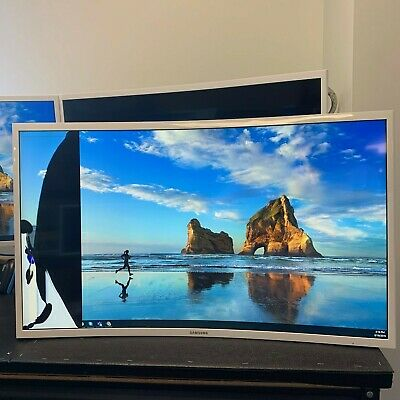 """Samsung LC32F397FWNXZA 32"""" Curved Full-HD LED Monitor - Cracked Display"""