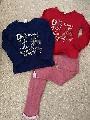 Mayoral Girl Red Jogger Jogging Bottoms And T-shirt Tops Bundle Age 4 Years