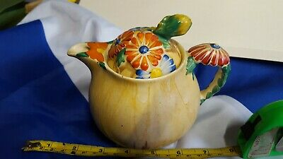 Vintage Clarice Cliff Teapot,Bizzare Design/Motive