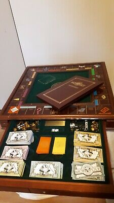1991 Franklin Mint Monopoly Collector's Edition wood board