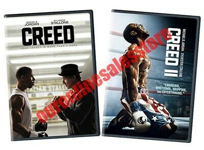 Creed 1 & 2 Movie Complete Collection DVD Set Bundle Film Boxing Sylvester Stall