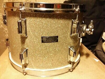 Nos Vintage 1970S Pearl 13 X 9 Tom Made In Japan Silver Glass Sparkle Wood Shell