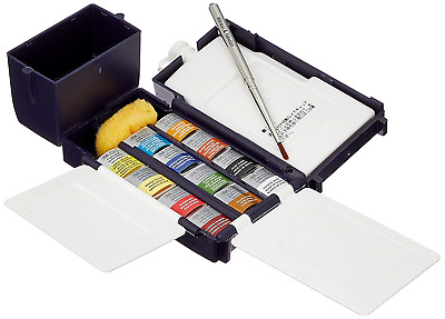 Winsor & Newton Artist's Water Colour Field Box Drawing Set with Half Pan - Pack