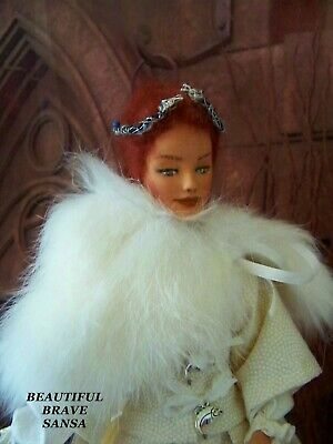 Game Of Thrones Sansa Stark Action Figure Repaint Mohair Wig Doll Barbie