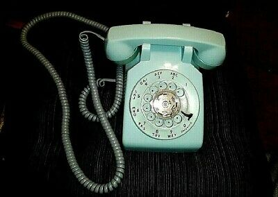 Vintage 60'S Bell South Rotary Dial Phone Ice Aqua Blue