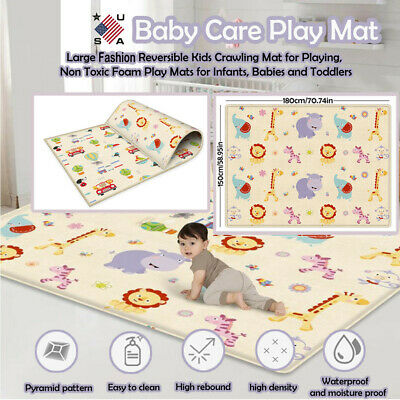Large Foldable Double-sided Child Crawling Mat For Baby Use Non-toxic Game Gads