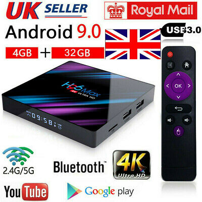 H96 Pro MAX 4GB+32GB Android 9.0 TV Box USB HD Smart Network Media Player HOT UK