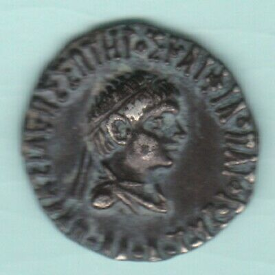 Ancient India Indo Greek King Menander Ex Rare Silver Coin Top Quality