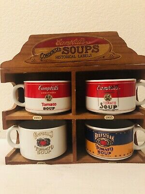 Vintage Campbell Soups Historical Labels 1993, 1905, 1897, 1895 Limited Edition