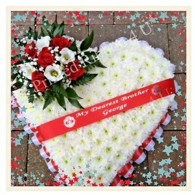40 mm Wide Luxury Personalised Funeral Wreath Ribbon Floral Memorial RIBBON ONLY