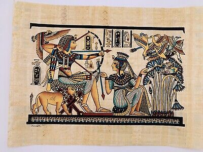 "New!! Large Egyptian Papyrus Paper King Tut Shooting Wild Fowl 17"" x 13"""