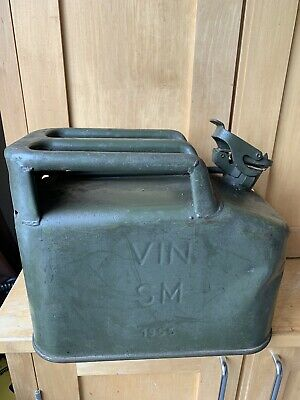 Vintage 10 Litre Vin Fuel Jerry Can 1955