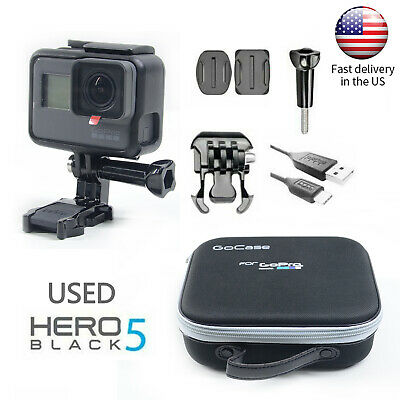 Refurbished GoPro HERO 5 Black Action 4K Ultra HD Camera Touch Screen accessorie