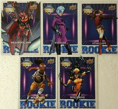2016 Upper Deck Marvel Annual Trading Card Set ROOKIE HEROES ( 5 Cards )