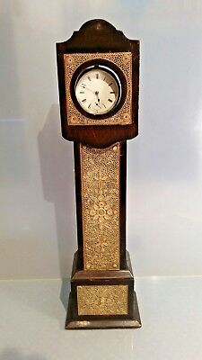 RE Victorian Pocket watch stand grandfather long case paper spool decoration
