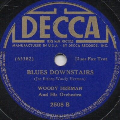 "78er Jazz Swing Woody Herman Orchestra ""Blues Upstairs / Blues Downstairs"""
