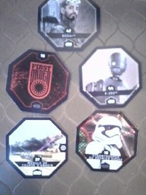 Cartes Star Wars Rogue One Lot de 5