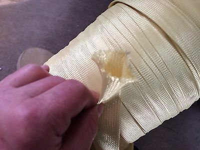 "20 Yards A & P 1.75"" ID Braided Fiberglass E-Glass Cloth Fabric Sleeve # FC2154"