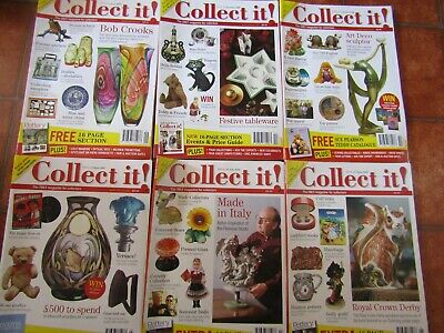 Collect It Magazines  X6   Robert Harrop  Florence   Royal Crown Derby Wade