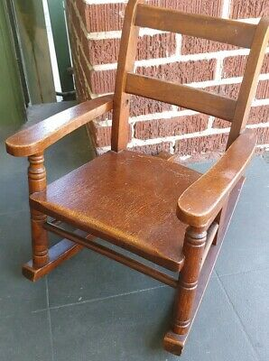 Childs Doll Antique Murphy Wood  Rocking Chair made in Owensboro, Kentucky