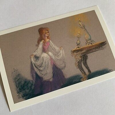 Disney Princess Postcard. Belle Beauty And The Beast Concept Art By Mel Shaw