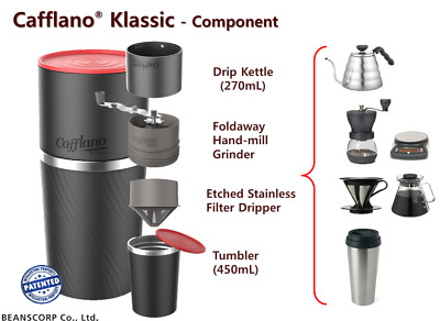 Cafflano Klassic All-in-One Coffee Maker Grinder/Dripper/Filter/Tumbler Portable