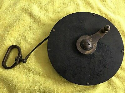Antique Rare CHESTERMAN Sheffield 100ft Tape Measure Links Poles Wales Lead Mine