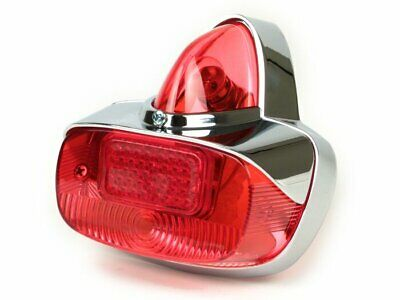 Vespa GS Style Light - fits PX 125 200 T5 Chrome Metal Bodied Tail Lamp