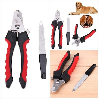 Pet Dog Cat Nail Toe Claw Clippers Scissors Shears Trimmer Cutter Grooming Tool