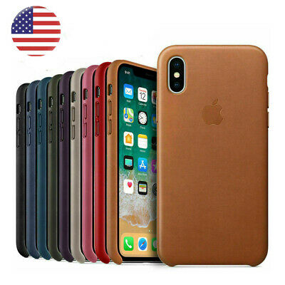 For iPhone XS XR XS Max Genuine PU OEM Phone Case Cover Original Leather Case US